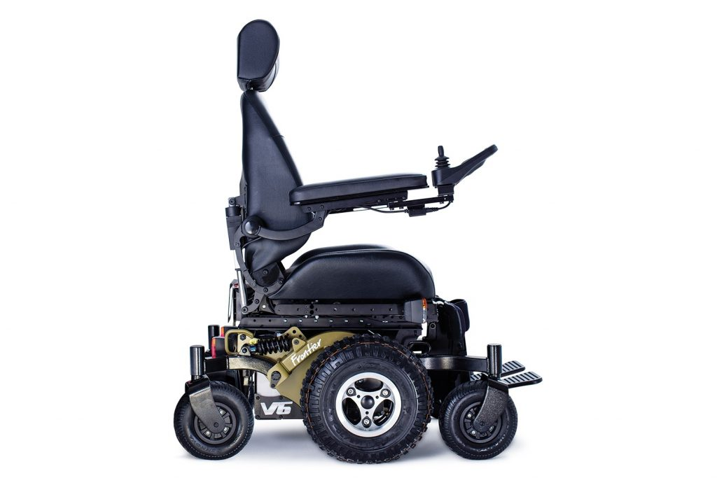 Frontier v6 all terrain electric wheelchair for All terrain motorized wheelchairs